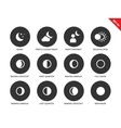 Moon icons on white background vector image vector image