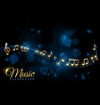 music note poster musical background musical vector image