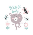 perfect day bear vector image vector image