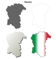 Pescara blank detailed outline map set vector image vector image