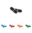 pills icon vector image vector image