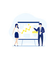 presentation with business data and people vector image