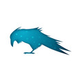 raven paper on the grey background vector image vector image
