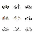 realistic bmx folding sport-cycle road velocity vector image vector image