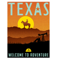 Retro travel poster for Texas vector image