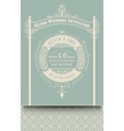 Retro wedding card vector image vector image