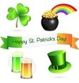 Saint Patricks Day design elements set vector image vector image