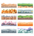 sceneries and landscapes different lands or vector image