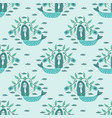 seamles mermaid pattern vector image