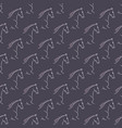 seamless pattern white horses violet background vector image