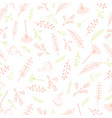 seamless pattern with hand drawn line herbs and vector image
