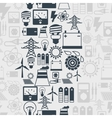 Seamless pattern with power icons in flat design vector image vector image