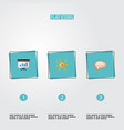 set of startup icons flat style symbols with brain vector image