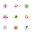 Sewing supplies icons set pop-art style vector image vector image
