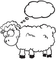 sheep with thought bubble vector image