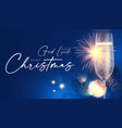 shining champagne merry christmas and happy new vector image vector image