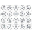 smart house home automation system line icons vector image vector image