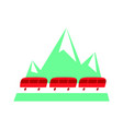 swiss red train flat icon vector image