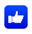 thumb up sign icon digital blue vector image vector image