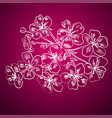 twig cherry blossoms vector image