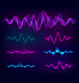 wave sound set music soundwave design vector image vector image