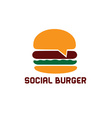 social burger design template vector image