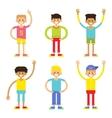 Set of cheerful children boys vector image