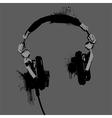Headphones stencil vector image