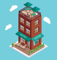 hotel icon in isometric style vector image