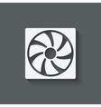 fan design symbol vector image