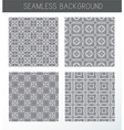 Seamless grey backgrounds collection vector image