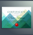 abstract horizontal certificate template design vector image