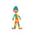 angry clown cartoon character vector image vector image