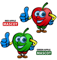Apple Mascot vector image