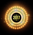 background of 2017 with golden dots and lights vector image vector image