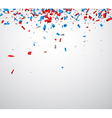 Background with confetti vector image vector image