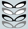 black mask and other color or female glasses vector image vector image