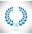 Blue Laurel Wreath vector image vector image