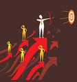 businessmen focus target vector image