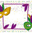 carnival mardi gras poster with purple necklace vector image vector image