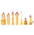 cartoon a candle on a white background set of vector image vector image