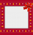 christmas or new year square border frame with vector image vector image
