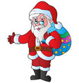 christmas santa claus 1 vector image vector image