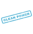 Clean Power Rubber Stamp vector image vector image
