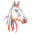colorful decorative horse 5 vector image vector image