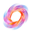colorful flow funnel universe brush stroke circle vector image vector image