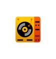dj vinyl turntable icon music symbol vector image