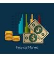 Financial market graphic vector image vector image
