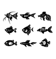 Fishes icon set vector image
