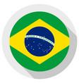 flag federative republic brazil round shape vector image